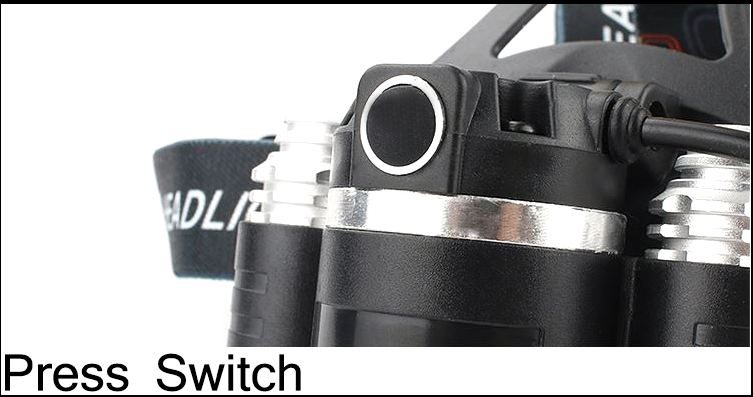 CHUANGLIANGZHE LED Headlamp 10000 Lumens 3 * T6 Rechargeable Flashlight Headlight 18650 Battery Hunting Fishing Light 10