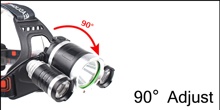 CHUANGLIANGZHE LED Headlamp 10000 Lumens 3 * T6 Rechargeable Flashlight Headlight 18650 Battery Hunting Fishing Light 8