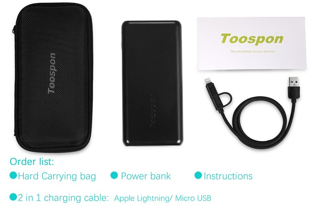 4 Ports Usb Output Power Bank 20800mah 10000mah With Super Bright