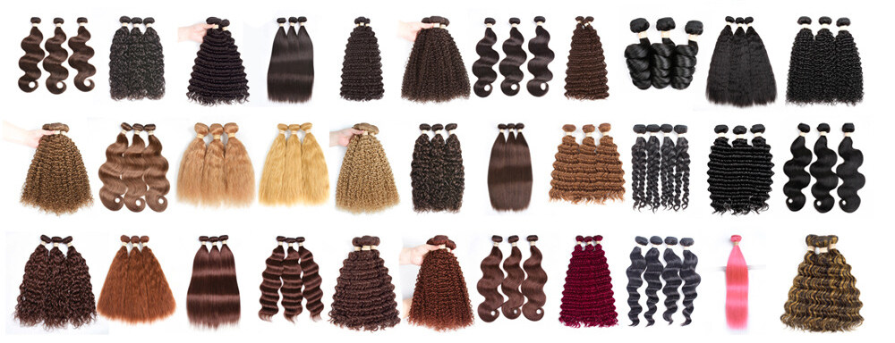 10A Blonde Bundles With Closure Kinky Curly Hair Bundles With Closure