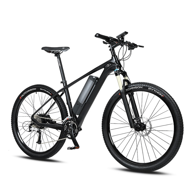27.5-inch carbon fiber booster electric bicycle mountain bike Lithium battery bicycle male and female electric bicycle 1