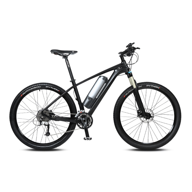 27.5-inch carbon fiber booster electric bicycle mountain bike Lithium battery bicycle male and female electric bicycle 2