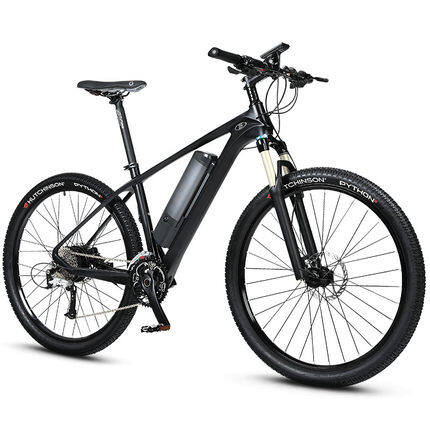 27.5-inch carbon fiber booster electric bicycle mountain bike Lithium battery bicycle male and female electric bicycle 0