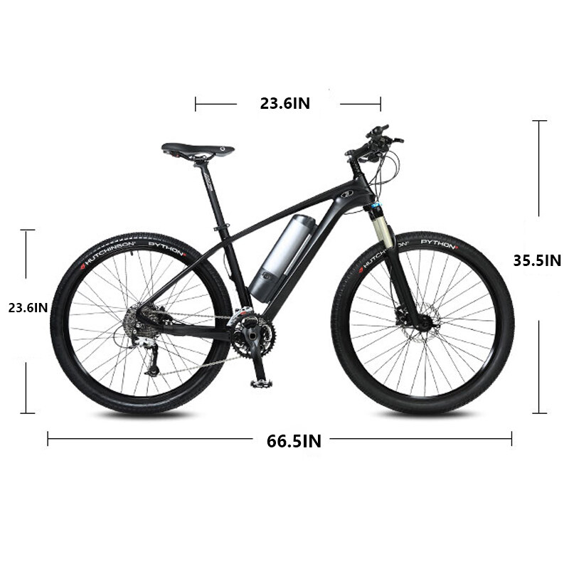 27.5-inch carbon fiber booster electric bicycle mountain bike Lithium battery bicycle male and female electric bicycle 5