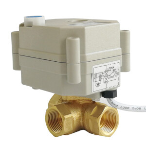 DN10 3 WAY BRASS Electric actuated valve used for Agriculture Irrigation equipment