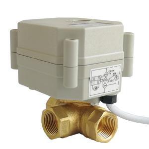 DN10 3 WAY Brass electric valve 220V power off return