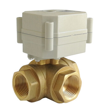 DN20 Electric normal close ball valve 3-way