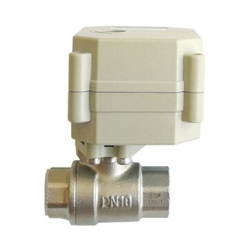 """DN10 stainless Electric valve with power off return function , AC110-230V Electric Actuated water valve, 3/8"""" Electric ball valve SS304 for animal feeding controldn10 electric automated water valve spring return