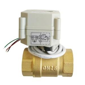DN25 brass 2 way proportional valve 0-10V