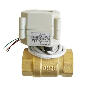 DN25 brass 2 way proportional valve 0-10V