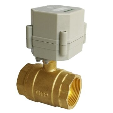1-1/4 inch electric timer control valve brass 2 way