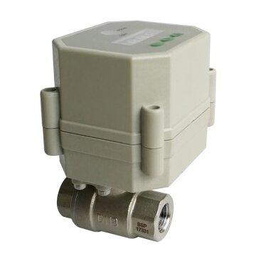 1/4 inch Electric ball valve with timer built in