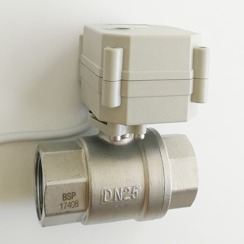 DN25 Two Way 1 Inch AC//DC9-24V Stainless steel Motorized Ball Valve
