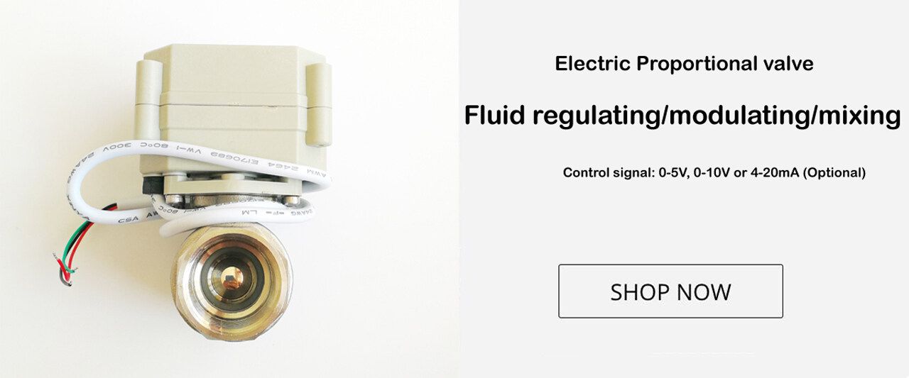 Electric water flow proportional valve