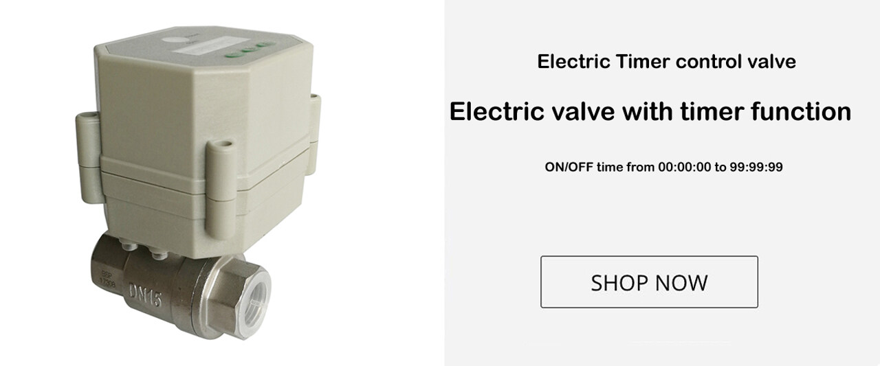 Electric timer control water valve for irrigation