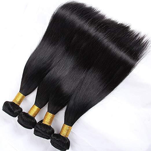 10A 100% Brazilian Straight Hair 4 Bundles Unprocessed Virgin Human Hair 4