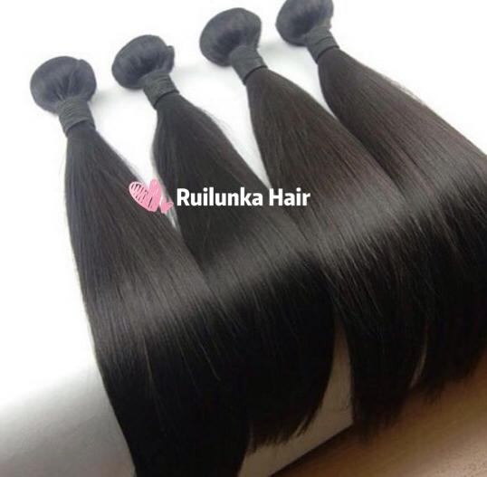 10A 100% Brazilian Straight Hair 4 Bundles Unprocessed Virgin Human Hair 2