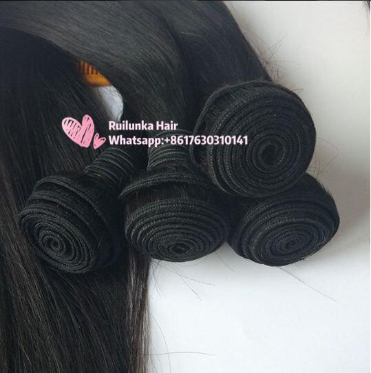 10A 100% Brazilian Straight Hair 4 Bundles Unprocessed Virgin Human Hair 3