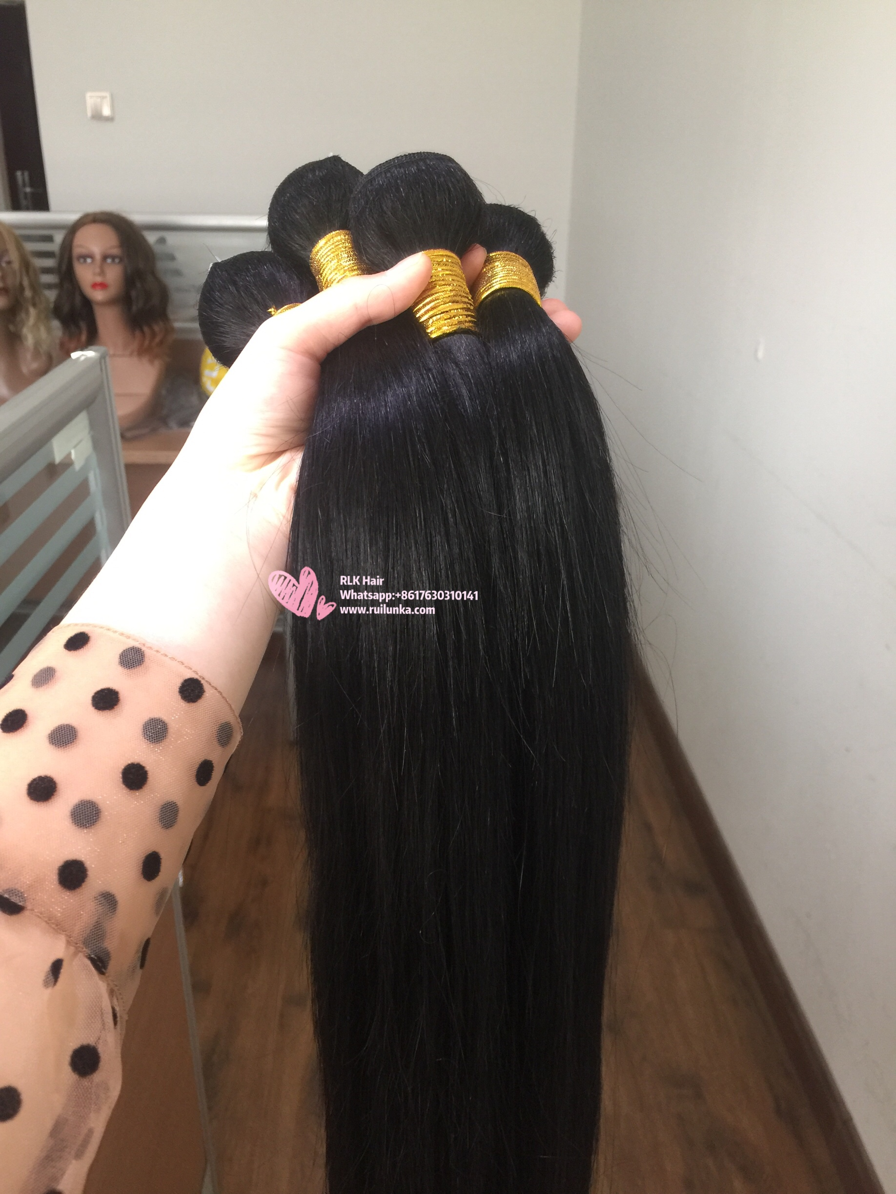 Straight human Hair 4 Bundles 100% Brazilian Unprocessed Virgin Human Hair 10A  3