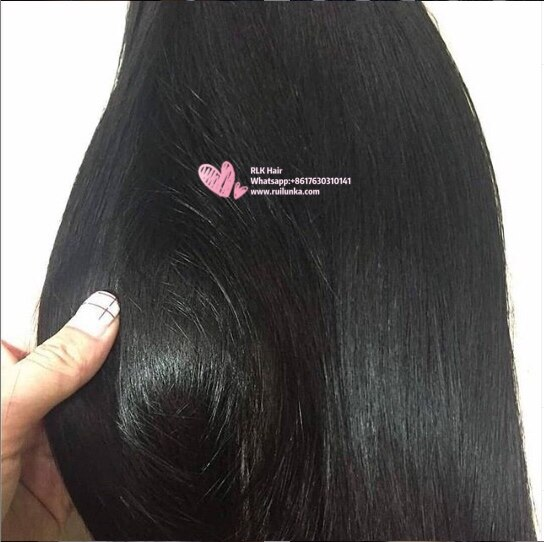 Straight human Hair 4 Bundles 100% Brazilian Unprocessed Virgin Human Hair 10A  5
