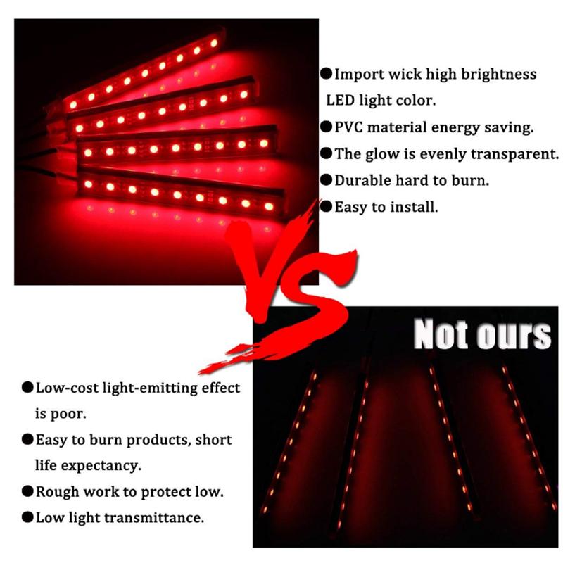 Car lights interior,Car led strip lights,Car lights,Car interior 36 Led (7 color)