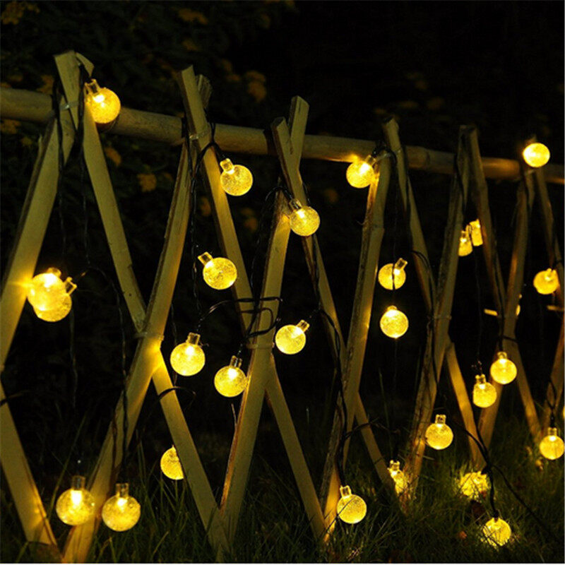 Solar String Lights Outdoor,Globe Fairy Waterproof Lights,For Garden,Patio Yard,Home,Christmas,Parties,Wedding(Multi-Colored)