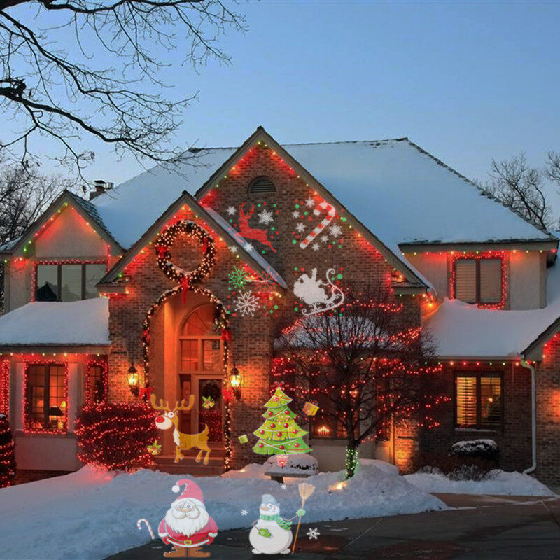 Holiday light projector,Led projection lights outdoor,Feel free to decorate your house,garden,party and perform an outstanding light show.