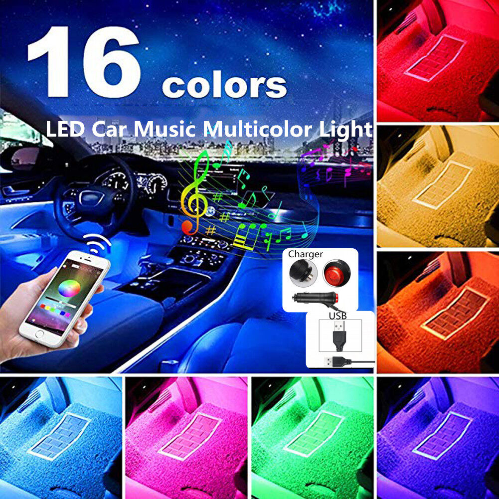 Car lights interior kit,Car led strip lights,Wireless Remote Control MusicFor car decoration,TV lighting,home,KTV and party decoration. car led strip light
