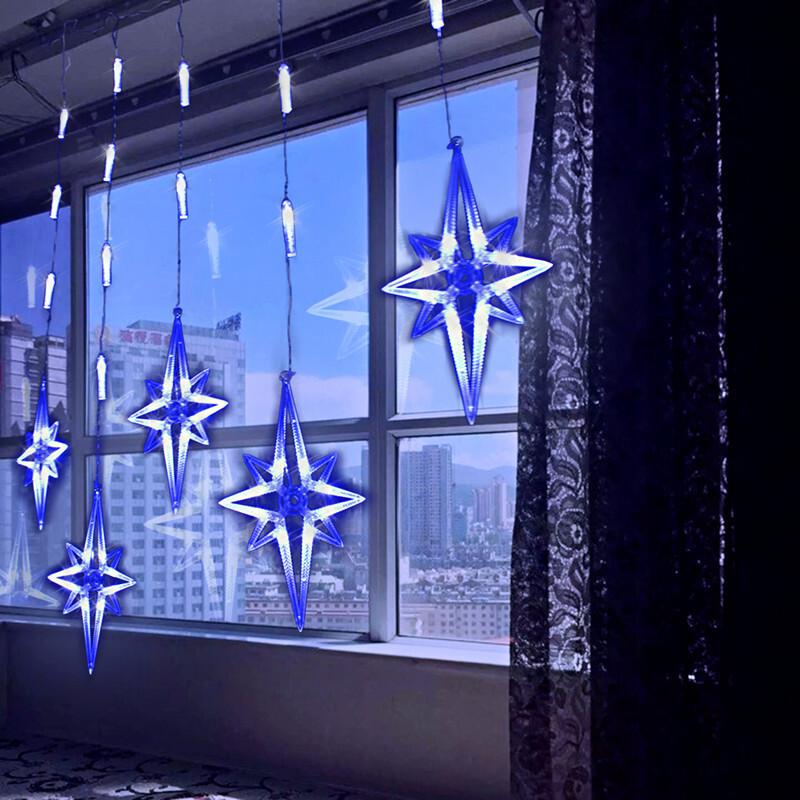 Star curtain lights,Garden lights,Holiday landscape lights,Outdoor balcony lights,Party lights ChristmasStar curtain lights|garden lights|holiday landscape lights|outdoor balcony lights