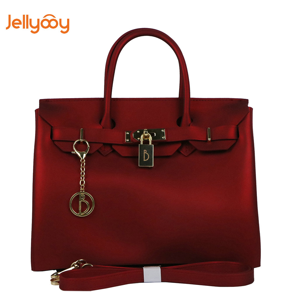 1928f30ec2 Jellyooy Beachkins Flap Cover Handbag Matte Jelly Beachkin Bags PVC  Waterproof Beach Bag