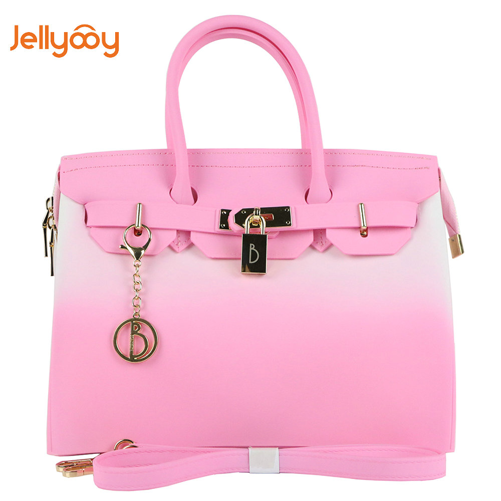 fc40d77cd8 Jellyooy Beachkins Flap Cover   Zipper Handbag Mix Color Matte Jelly  Beachkin Bags Summer Beach Bag