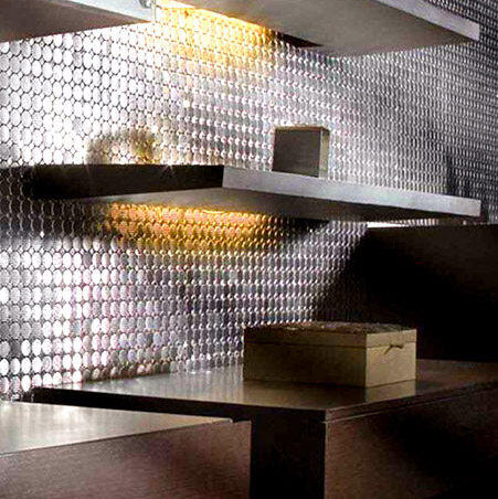 Glitz Up Your Home With Metal Mosaic