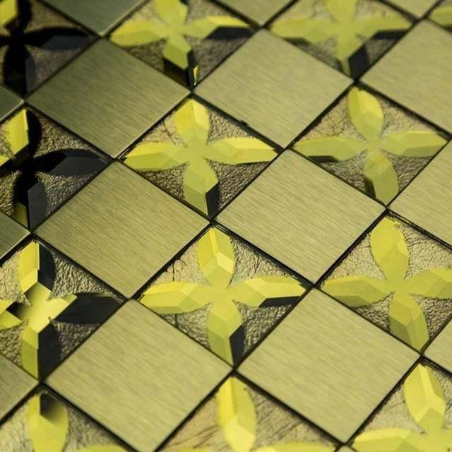 Homey Mosaic | metal mosaic,peel and stick tile backsplash,stainless steel mosaic