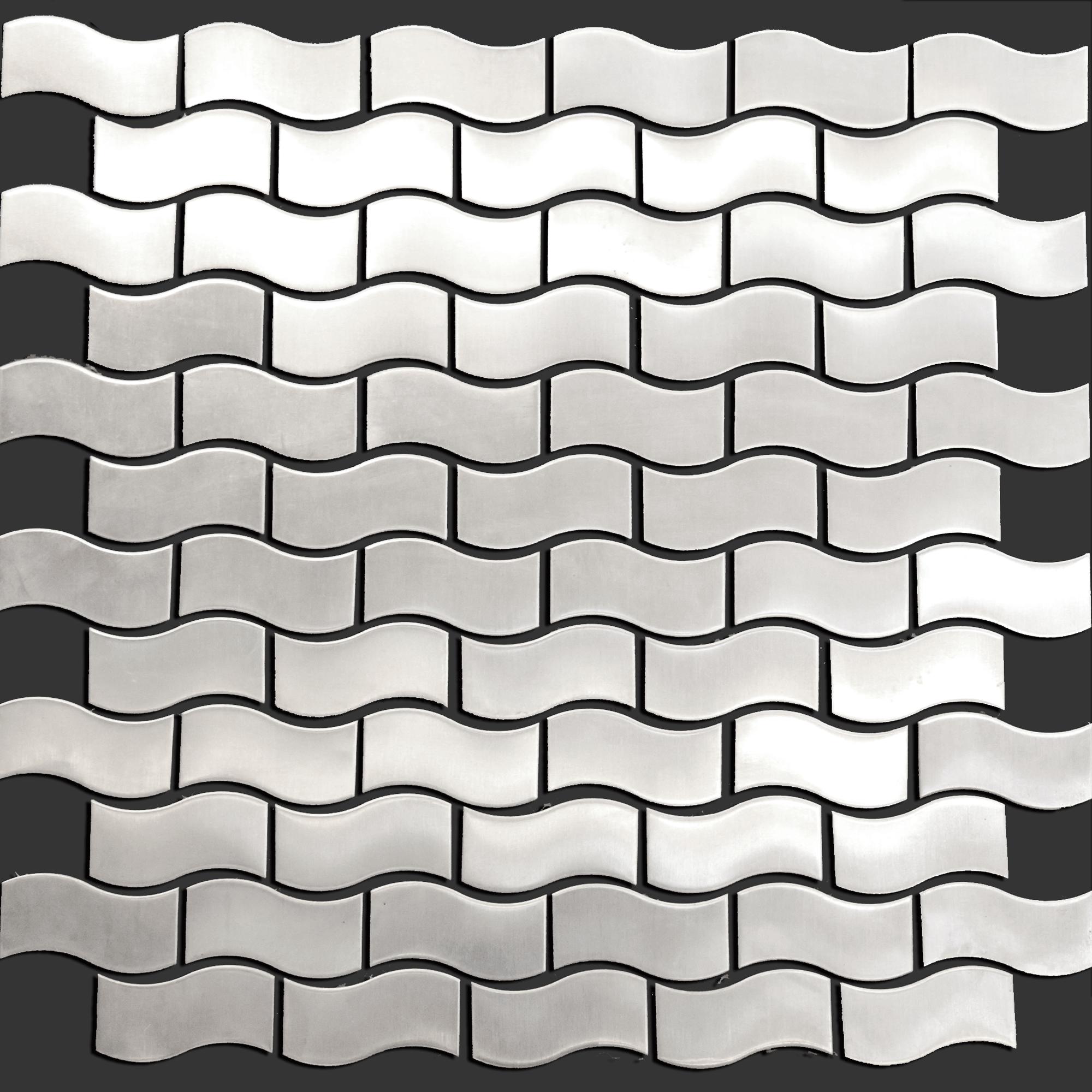 - Stainless Steel Mosaic Tile 3D Raise Bridge Pattern Backsplash