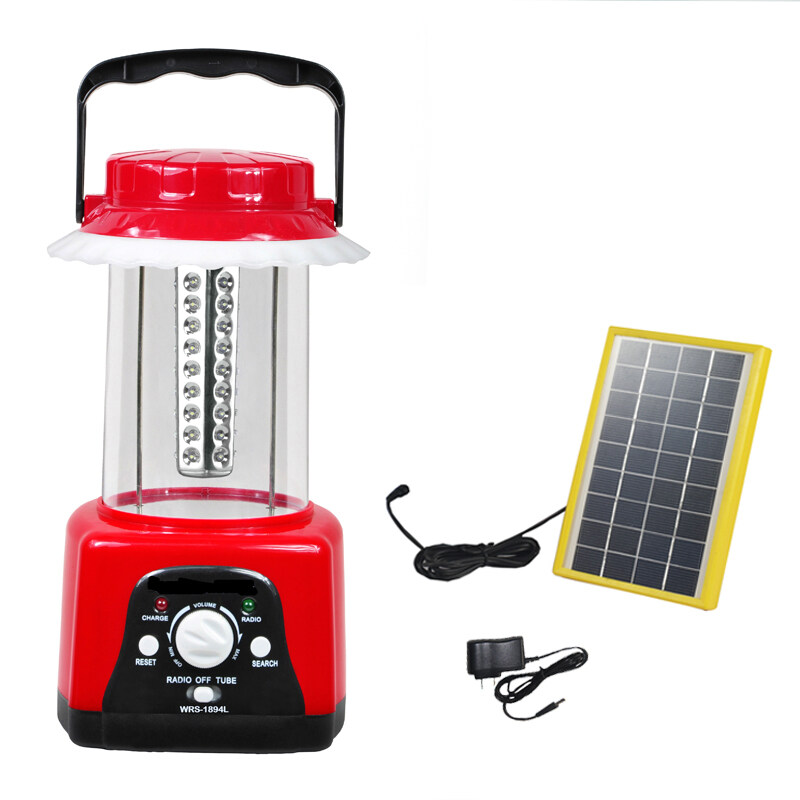 Solar Camping  Lights with FM scan radio  SCL-1894L 0