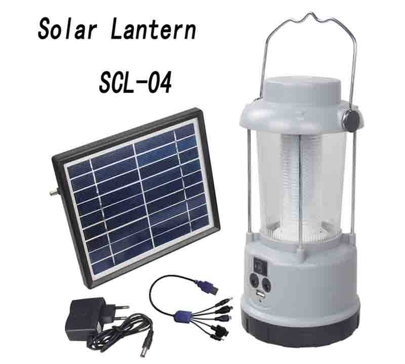 Solar Powered  Lantern With Lead acid battery  SCL-04 0