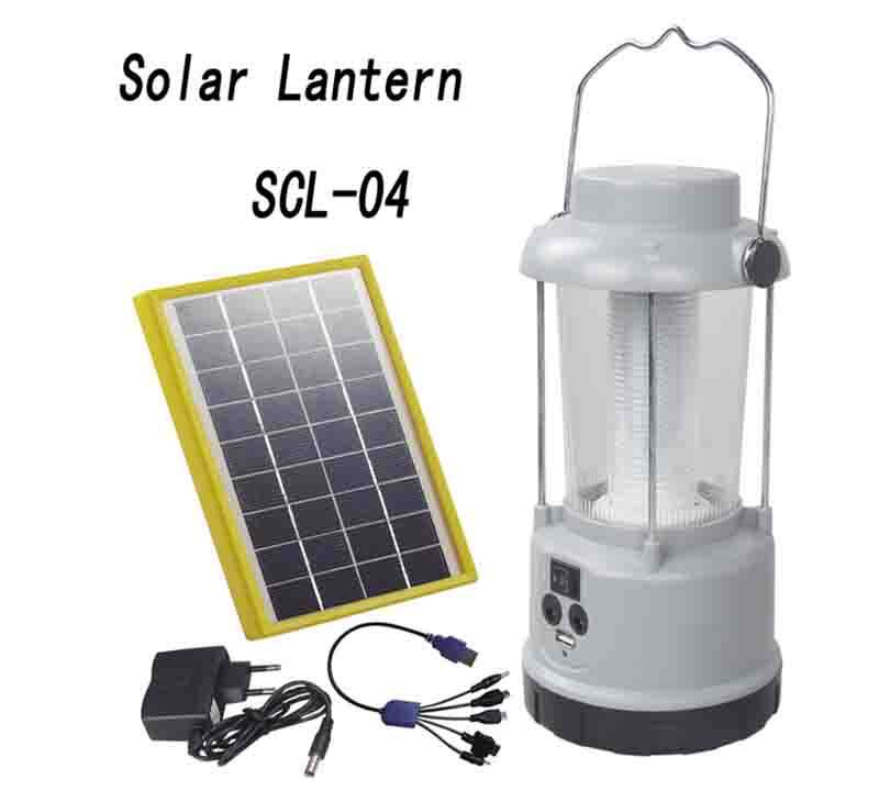 Solar Powered  Lantern With Lead acid battery  SCL-04 1