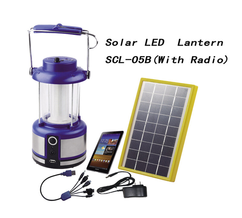 Solar Camping lights with radio & lithium battery SCL-05B 0