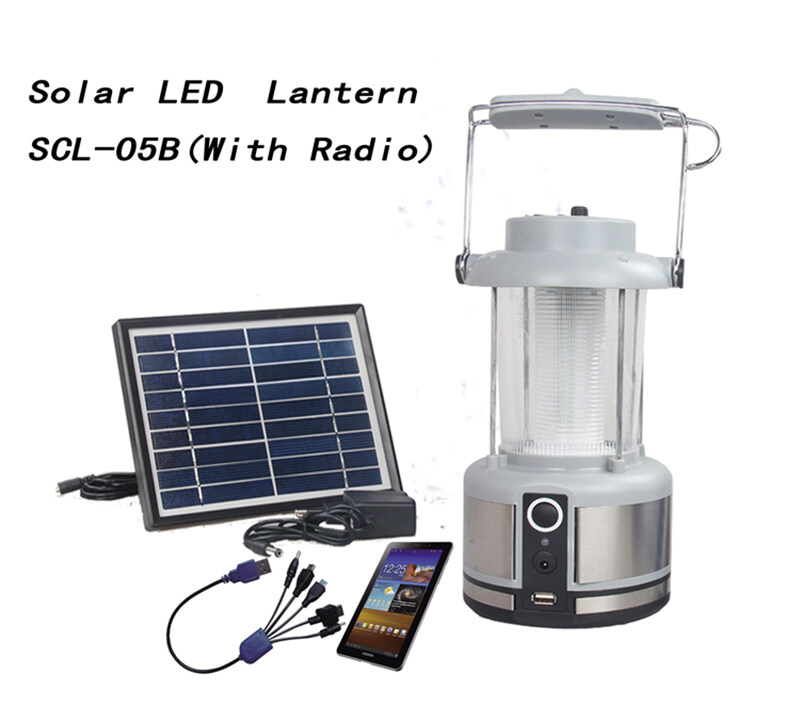 Solar Camping lights with radio & lithium battery SCL-05B 1