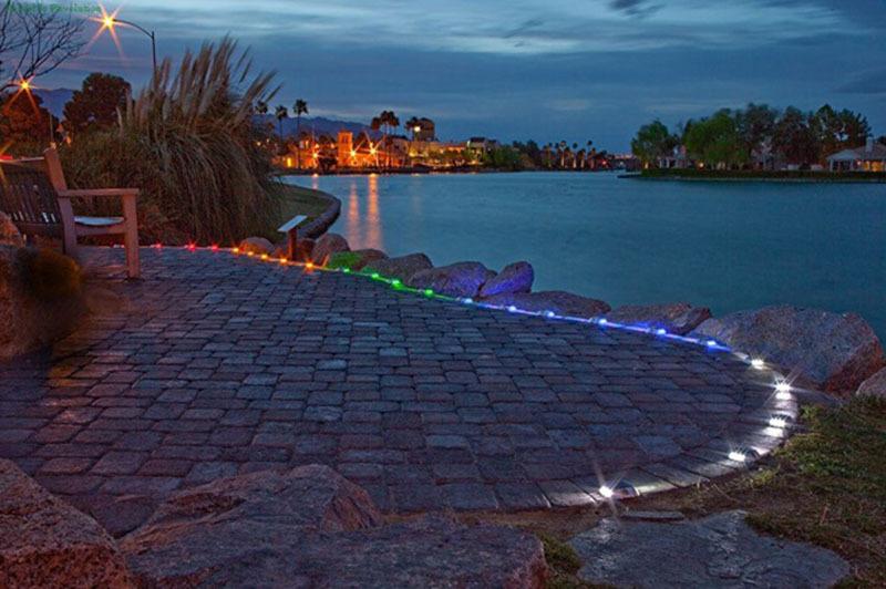 Solar Deck Lights /Night Safety Light-- SRS-13 4