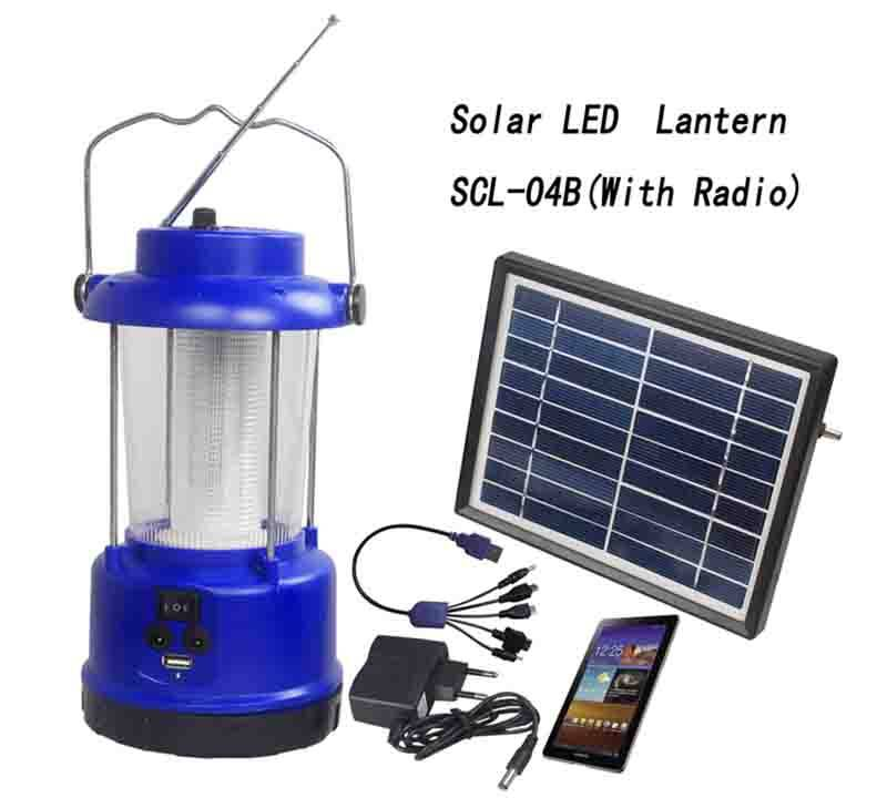 outdoor Solar Lantern With Radio  &  Lead acid battery SCL-04B 0