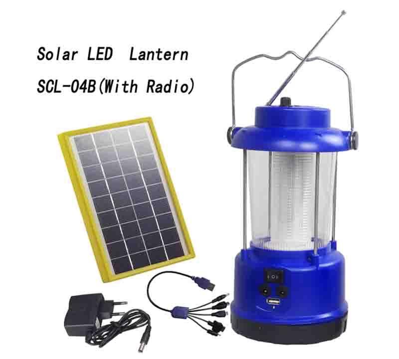 outdoor Solar Lantern With Radio  &  Lead acid battery SCL-04B 1