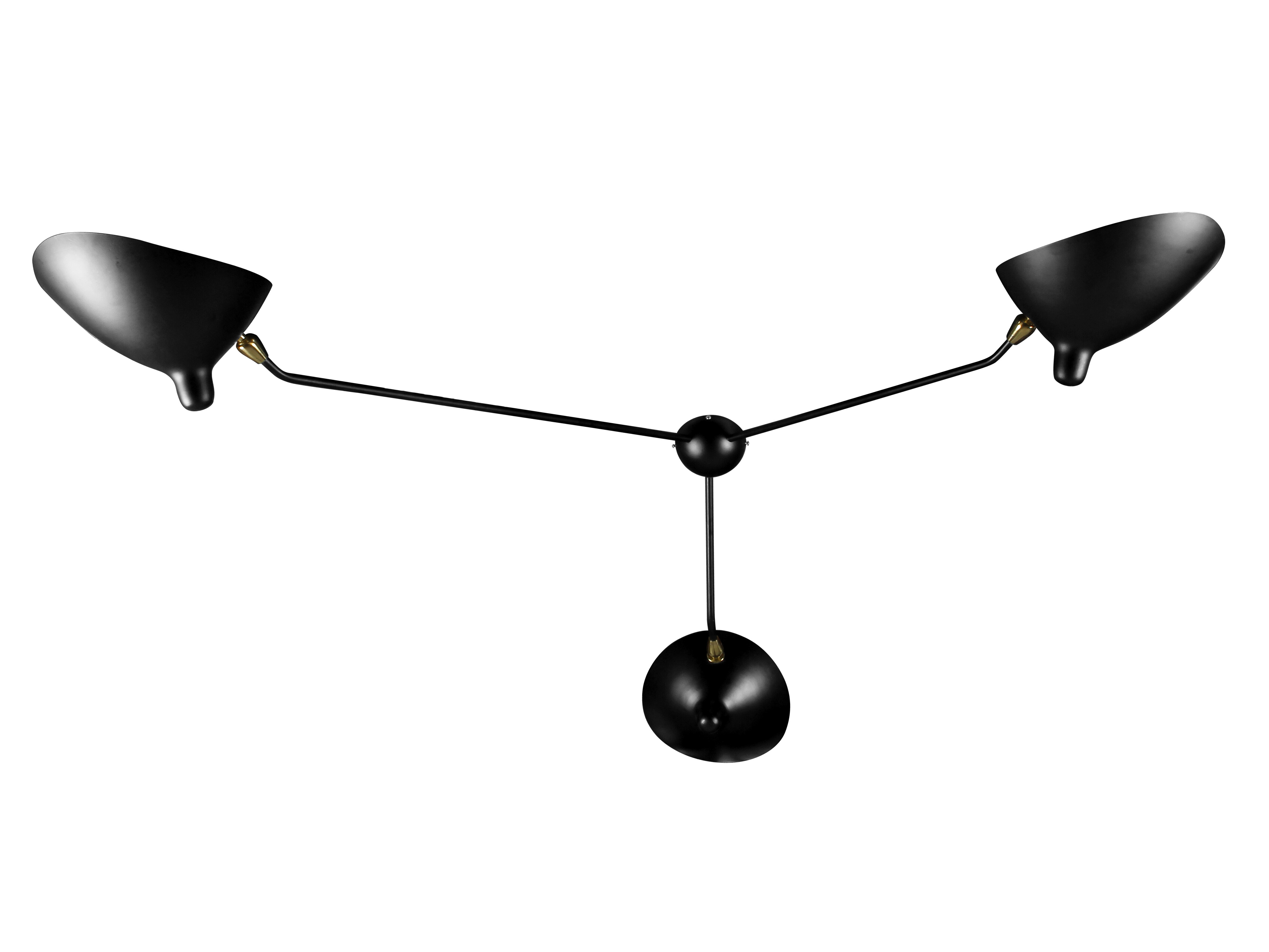 serge mouille three heads lamp