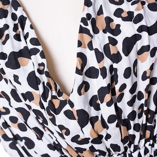 Women's sleeveless leopard color madi dresses 5