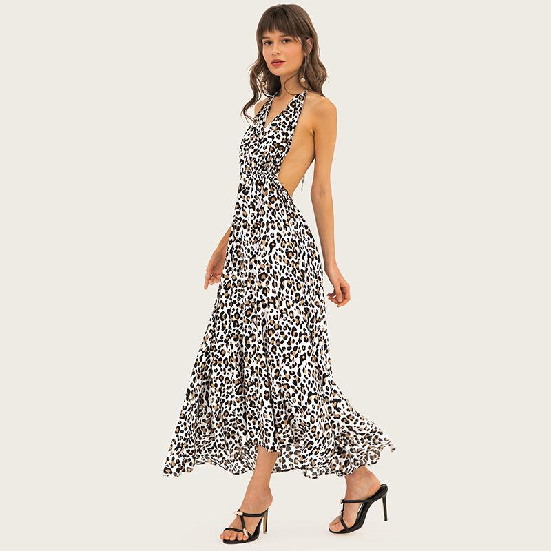 Women's sleeveless leopard color madi dresses 0