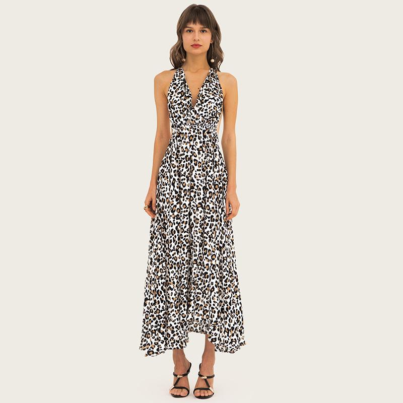 Women's sleeveless leopard color madi dresses 2