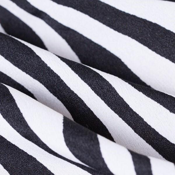 Women's deep-v neck stripe color madi dresses 5