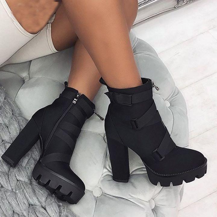 Womens High Heel Booties