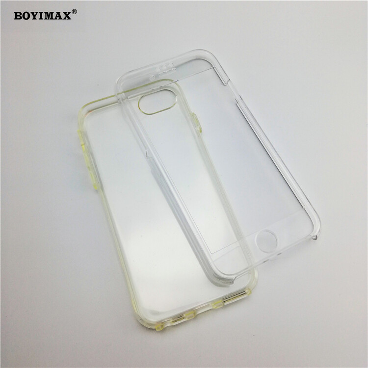 Crystal clear TPU+PC mobile phone case full protection cover-360N03  0