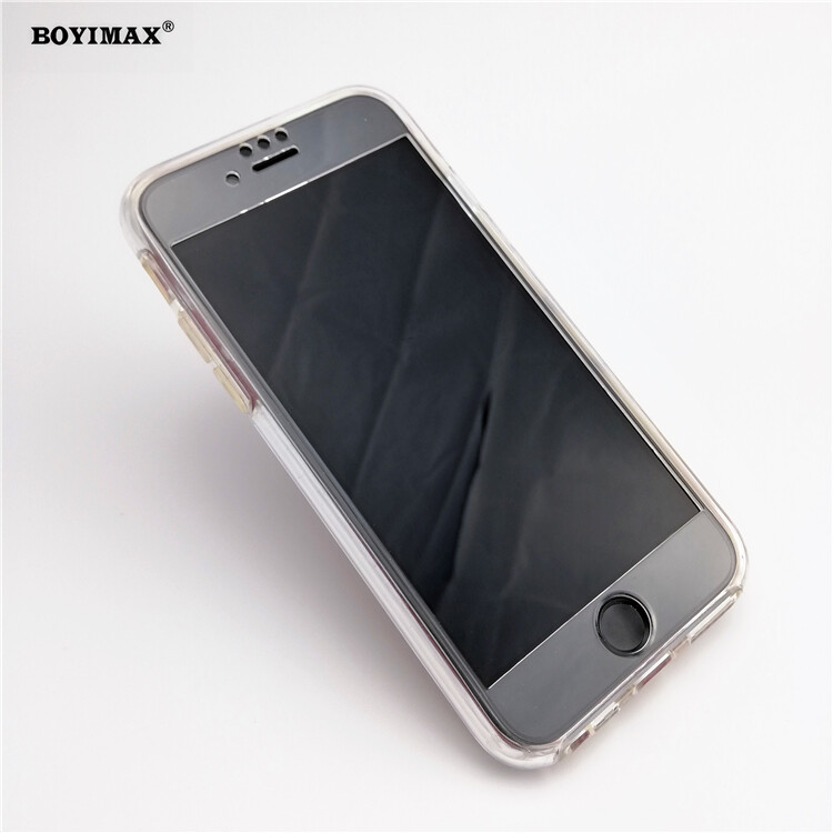 Crystal clear TPU+PC mobile phone case full protection cover-360N03  1